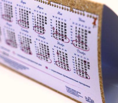 Изготовление фирменных календарей домиков